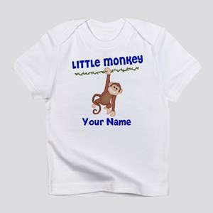 Monkey Boy Kids Personalized Infant T-Shirt