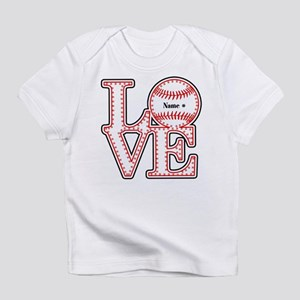 Personalized Front and Back Love Baseball Infant T