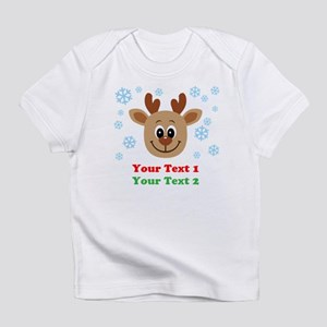 Personalize Cute Baby Reindeer Infant T-Shirt