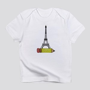 Eiffel Tower on Pencil Infant T-Shirt