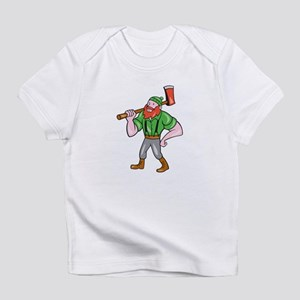 Paul Bunyan LumberJack Isolated Cartoon Infant T-S