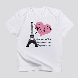 custom add text paris Infant T-Shirt