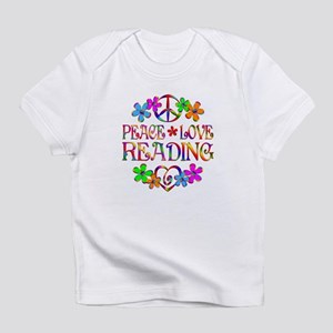 Peace Love Reading Infant T-Shirt