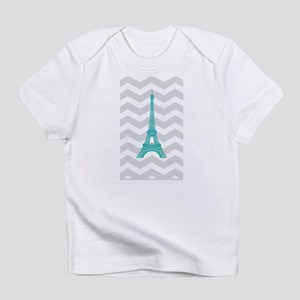 Turquoise Paris Grey Chevron Infant T-Shirt