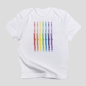 47fa621a Flutes 7 Rainbow Infant T-Shirt