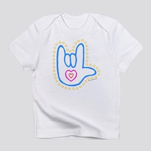 Blue Dotty Love Hand Infant T-Shirt