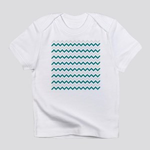 Turquoise and Grey Chevron Infant T-Shirt