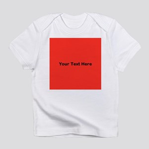 Red Background with Text. Infant T-Shirt