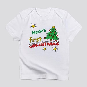 0f25d68a8f Custom First Christmas Infant T-Shirt