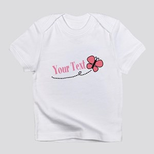 Personalizable Pink Butterfly Infant T-Shirt