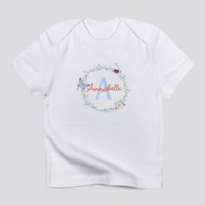 Cute Butterfly Floral Monogram T-Shirt
