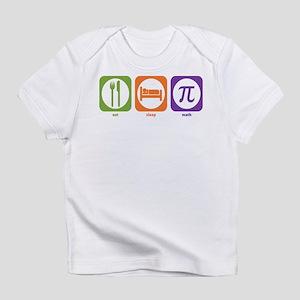 Eat Sleep Math Creeper Infant T-Shirt