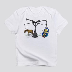 Horse Hot Walker with Baby Infant T-Shirt
