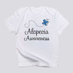 Alopecia Awareness blue butterfly Infant T-Shirt