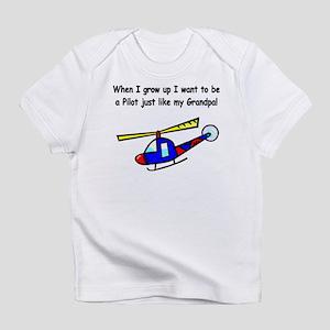 Helicopter Pilot Grandpa Infant T-Shirt