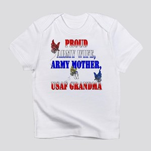 Army Wife Mother USAF Grandma Infant T-Shirt