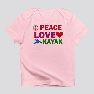 Peace Love Kayak Designs Infant T-Shirt