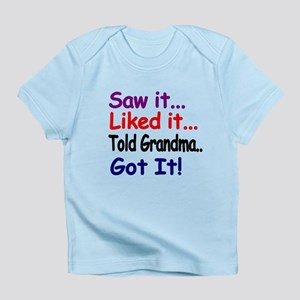 Saw It, Liked It, Told Grandma, Got It! Infant T-S