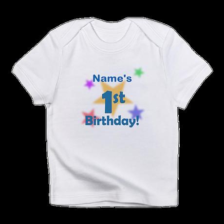 Boy Custom 1st Birthday Infant T-Shirt