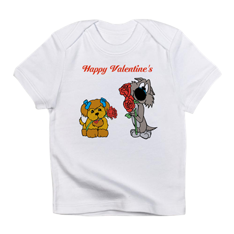 Valentines Day Dogs. Infant T-Shirt