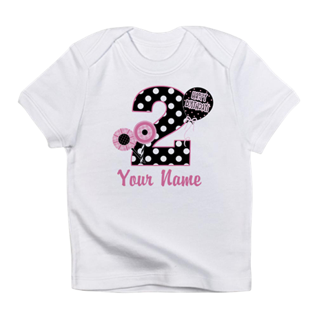 2nd Birthday Pink and Black Infant T-Shirt