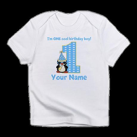 1st Birthday Penguin Infant T-Shirt