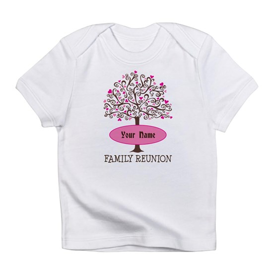 f0e8ad5792c Personalized Family Love Tree Infant T-Shirt Personalized Family Tree  Reunion Infant T-Shirt by HomewiseShopper - CafePress