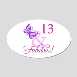 Fabulous 13th Birthday 20x12 Oval Wall Decal