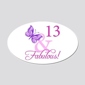 Fabulous 13th Birthday For Girls 20x12 Oval Wall D