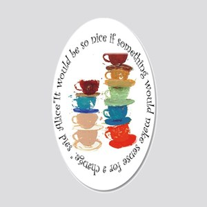 Its A Mad, Mad World, Alice 20x12 Oval Wall Decal