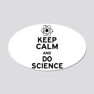 Keep Calm and Do Science 20x12 Oval Wall Decal