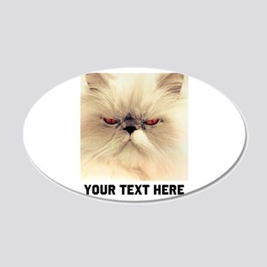 Cat Photo Customized 20x12 Oval Wall Decal