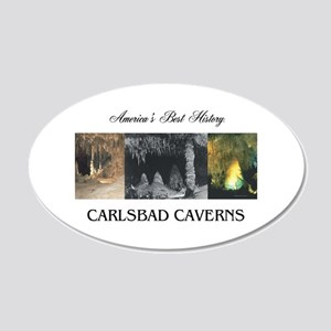 Carlsbad Caverns Americasbes 20x12 Oval Wall Decal