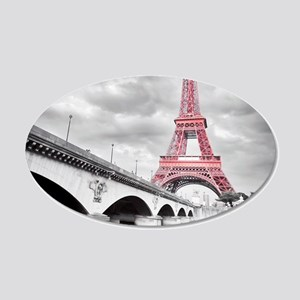 Pink Eiffel Tower Wall Decal