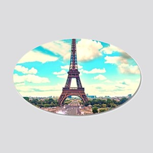 Paris 20x12 Oval Wall Decal