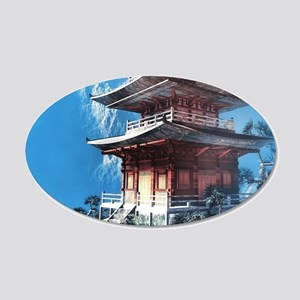 Zen Temple Wall Decal