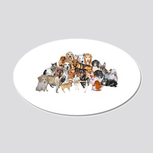 Other Dogs and Cats 22x14 Oval Wall Peel