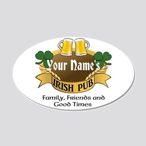 Personalized Name Irish Pub Wall Decal