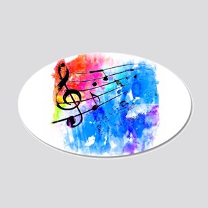 Colorful music Wall Decal