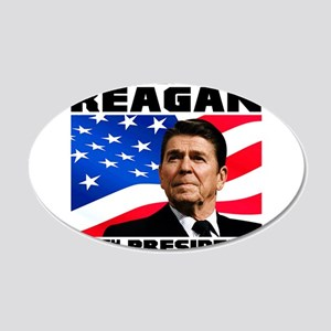 40 Reagan 20x12 Oval Wall Decal