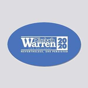 Warren 2020 Persist 20x12 Oval Wall Decal
