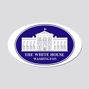 Emblem - The White House 22x14 Oval Wall Peel