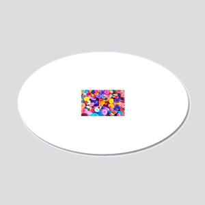 Buttons In Color 20x12 Oval Wall Decal