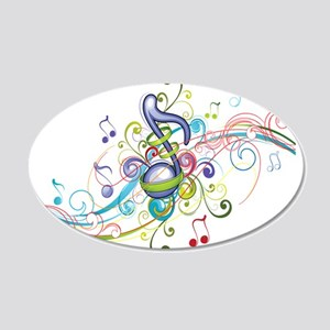 Music in the air 20x12 Oval Wall Decal