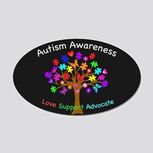 Autism Awareness Tree 20x12 Oval Wall Decal