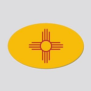 New Mexico State Flag 22x14 Oval Wall Peel