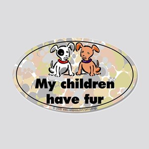 Furkids (dogs) 20x12 Oval Wall Peel