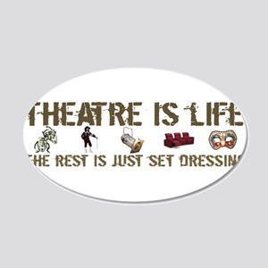 Theatre is Life 22x14 Oval Wall Peel