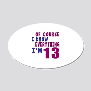 I Know Everythig I Am 13 20x12 Oval Wall Decal