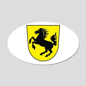 Stuttgart Coat of Arms 20x12 Oval Wall Peel